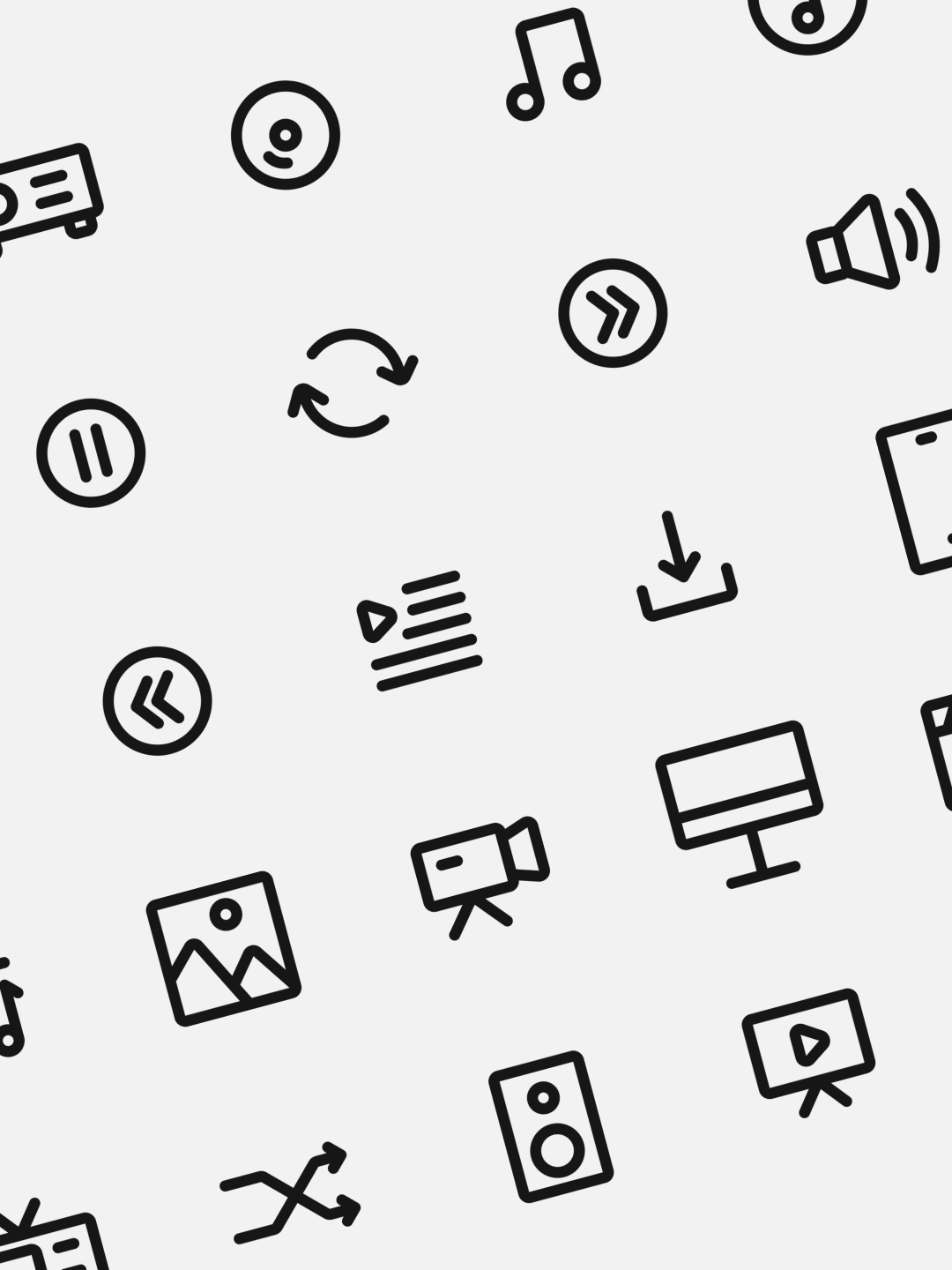 Classic Multimedia Icon Set