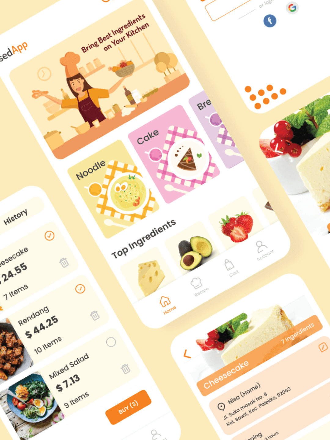 Food Recipes Mobile App